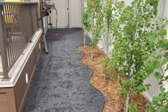 Boarders - black plastic edging to separate mulch and rocks