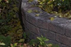 Borders - rustic roman stackstone curved decorative wall 2