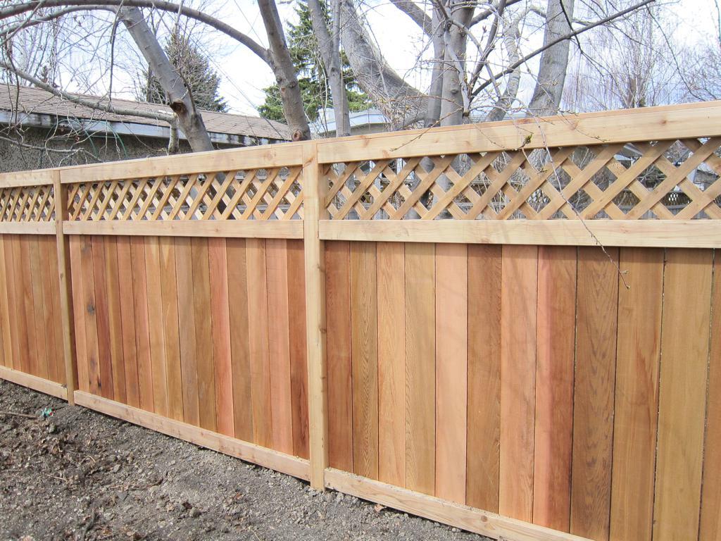 Fences - cedar lattice top estate fence