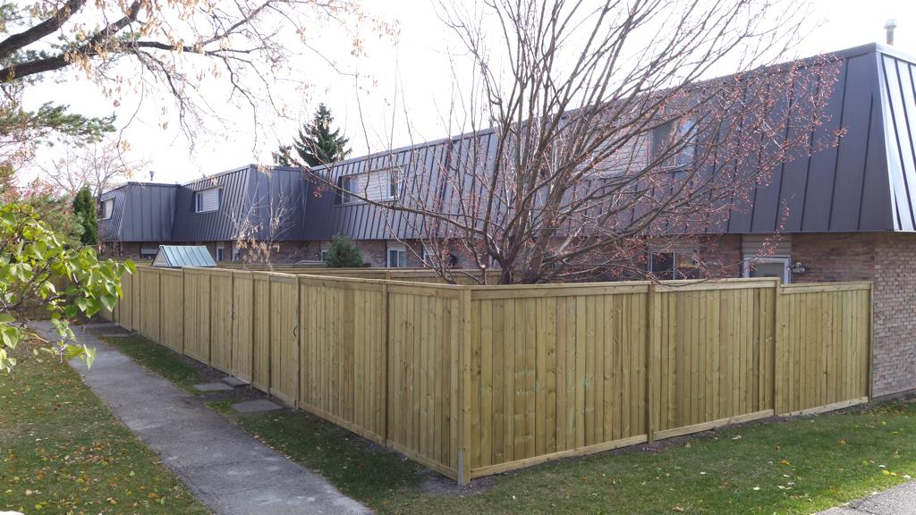 Fences - pressure treated fence replacement for townhomes