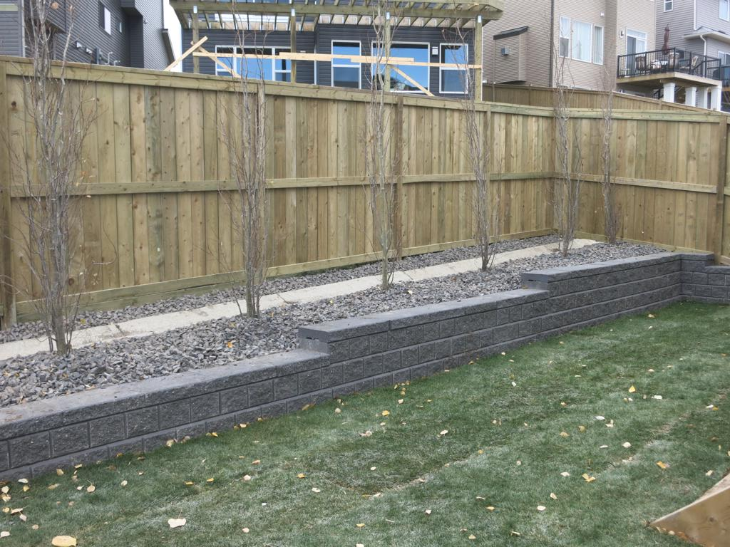 Fences - pressure treated fortress style fenc