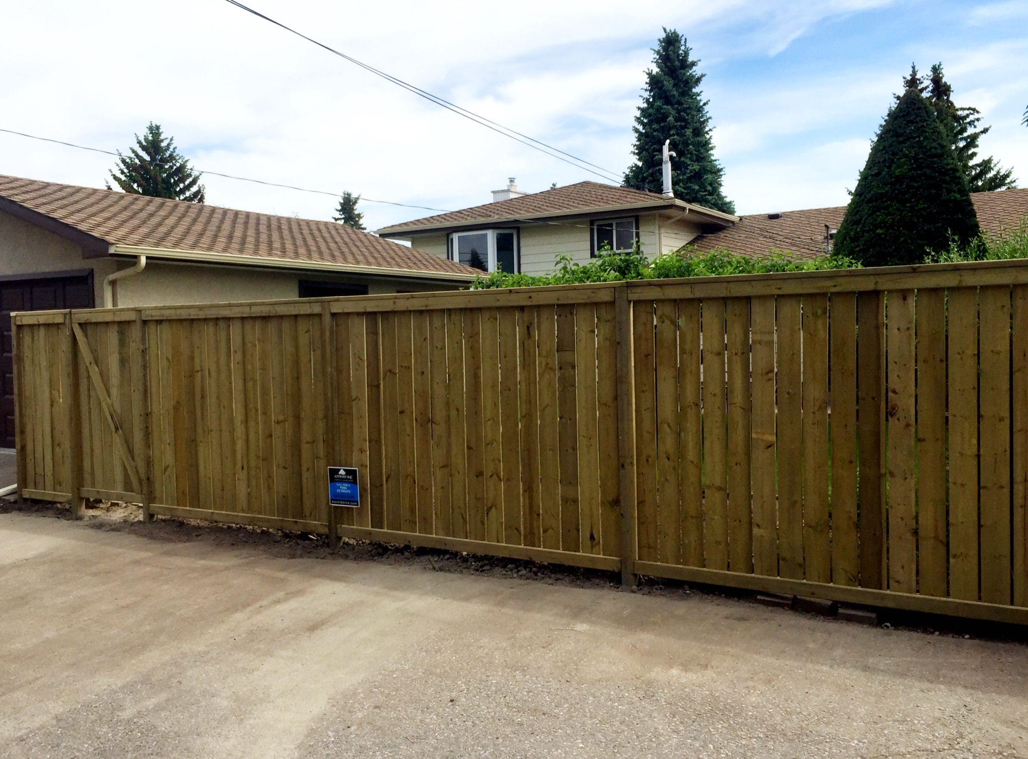 Fences - pressure treated good neighbour style fence